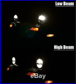 Land Rover Defender LED Headlight 7 DRL Headlamp x 2 Lamps Lights E Approved