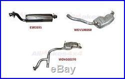 Land Rover Range Rover P38 99-02 Muffler Kit Exhaust Wdv100270 Wdv100260 Esr3195