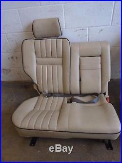 Landrover Range Rover P38 1996-2002 Set Of Cream Leather Electric Seats Interior