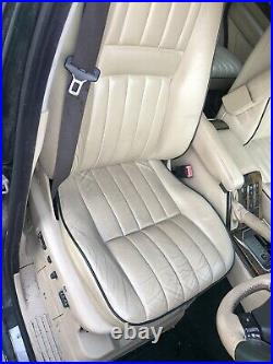 Lot12 RANGE ROVER P38 Electric Leather Seats Cream Green Piping Vogue SE TV