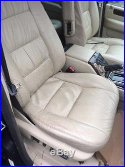 Lot2 RANGE ROVER P38 Cream Leather Front Rear Seats And Trim 2001 TV Screens