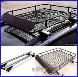M-Way Lockable Aluminium Roof Rail Bars & Car Rack Tray for Range Rover II 94-02