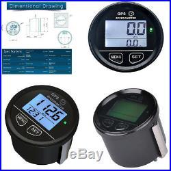 New Digital GPS Speedometer Counter Clock Voltmeter For ATV UTV Motorcycle Car