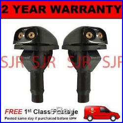 Pair Universal Windscreen Washer Twin Jet Straight Inlet Push Fitting 4mm Wwy2