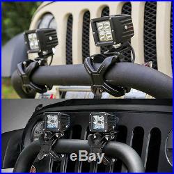 Pair X-Clamp Bullbar Mounting Bracket 2-3 LED Driving Work Light Bar Tube Mount
