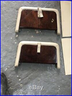 RANGE ROVER P38 Genuine Walnut Wood Picnic Tables Pair Autobiography Folding