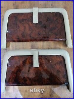RANGE ROVER P38 Genuine Walnut Wood Picnic Tables Pair Folding Rear Table