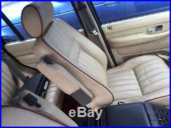 RANGE ROVER P38 Leather Cream Front Rear Seats Rare Red Piping And Red Carpet