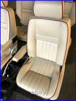Range Rover P38 2.5 4.0 4.6 Cream Leather Interior Seats With Red Piping 94-02
