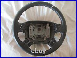 Range Rover P38 Black leather steering wheel with ICE con NEW NOS