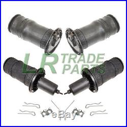 Range Rover P38 New Front & Rear Air Suspension Spring Bag Set & Fitting Clips