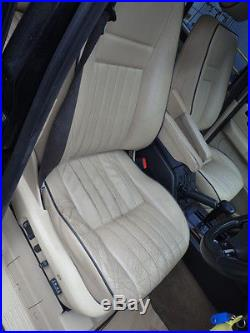 Range Rover P38, set of beige leather black piping seats, DVD player & screens