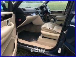 Range Rover p38 2001 5 Spd Manual Imperial Blue Cream Hide Stock 68