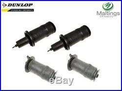 Range rover p38 air suspension air bag set (4) rkb101460g x2 reb101740gx2 dunlop