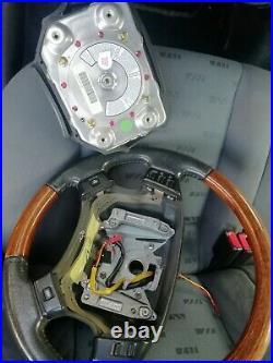 Range rover p38 walnut leather Multifunction steering wheel land rover FREE POST