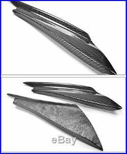 Real Carbon Fiber Front Bumper Splitter Fins Body Spoiler Canards Valance Chin