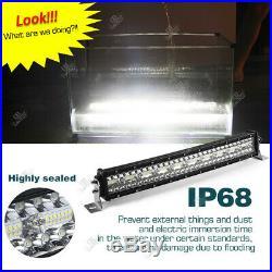STRAIGHT Curved LED Light Bar 22 32inch Driving Fog Lamp Flood Spot Combo Beam