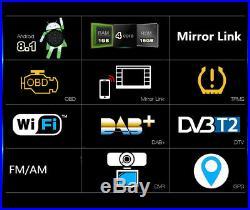 Universal 1 Din 7 1080P Car Stereo Radio GPS Wifi 3G 4G BT DAB Mirror Link OBD