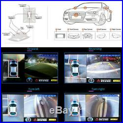 Universal 3D HD 360Surround View System Bird View Panorama System 4-CH 1080P DVR