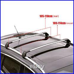 Universal Aluminum Car Top Roof Rack Cross Bars Rail Lockable Luggage Carrier