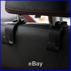 Universal Car Auto Back Seat Hook Hanger Bag Coat Purse Organizer Holder Black