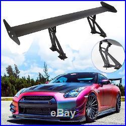 Universal Lightweight Aluminum Rear Car trunk AUTO GT Wing Racing Spoiler Black