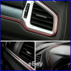 Universal red Edge Gap Line Car Interior Accessories Molding Garnish 5M UK SET
