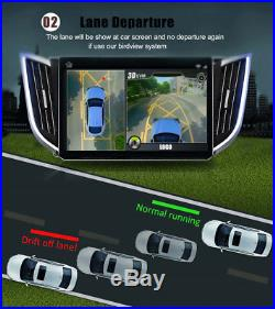 Vehicle Car DVR 3D 360 Surround View Panorama System with 4x Cameras Waterproof