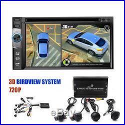 Vehicle Car HD 3D 360° Surround View System 4Pcs Camera DVR Waterproof G-Sensor