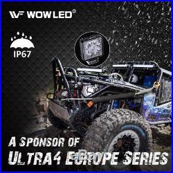 WOW 10 Pcs 27W 9 LED Work Light Flood Offroad Lamp SUV 4WD Truck Camp 12V 24V