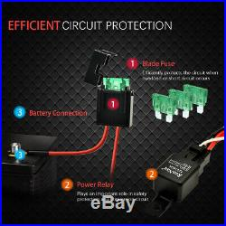 WOW Premium LED Work Light Bar Wiring Harness Loom Relay Kit 2 Leads