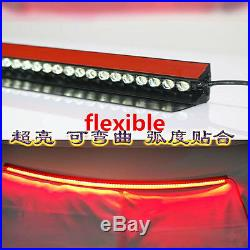 Waterproof 36 Length Autos LED Third High Brake Tail Light Red Rear Windshield