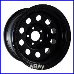 X4 15x10 ET-32 BLACK GOJO'S DEEP DISH MODULAR STEEL WHEELS DISCOVERY 2 5x120
